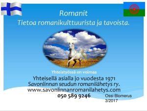 Tietoja romanikulttuurista ja tavoista